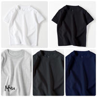 受注発注【100-160cm】Myu Original Basic / Kids Solid T-shirt キッズTシャツ
