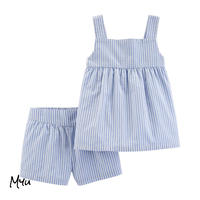 受注発注【50〜120cm】carter's  2-Piece Striped Tank & Short Set