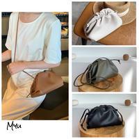 【LADIES】2way Gather Mini Bag ギャザーミニクラッチ&ショルダーバッグ