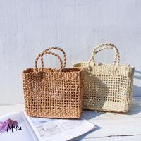 【LADIES】Simple Square Basket Bag シンプル スクエア カゴバッグ