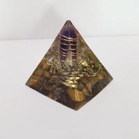 ピラミッド型オルゴナイト(タイガーアイ)
