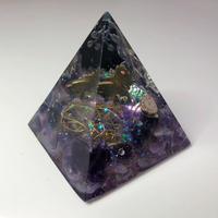 ピラミッド型オルゴナイト(アメジスト)