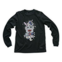 Cartoon chainsaw massacre Long-sleeve tee  / Blk