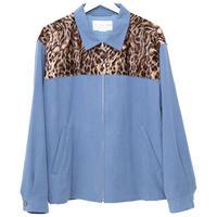 【SALE】Leopard shoulder swing-top