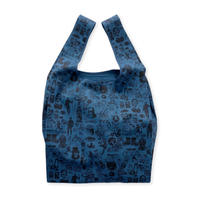 Original silk print Eco bag / D.blue