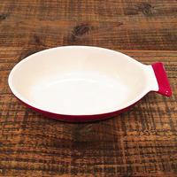 サカナグラタン皿  L  レッド