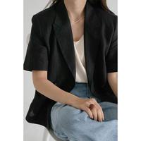 Linen HandStitch Jacket_black