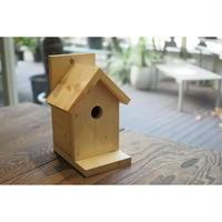 【DIY完成品・未塗装】鳥の巣箱型小物入れ TSK-M
