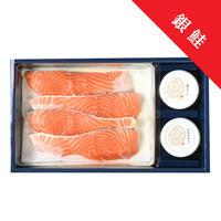 銀鮭味噌漬セット② 【2102】(銀鮭味噌漬4切 塩たらこ 神楽南蛮みそ)
