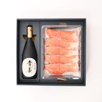特選ギフトセットA(鮭の味噌漬+純米吟醸酒1本)【TG-A】