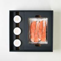 鮭の味噌漬セット 213(鮭の味噌漬4切 いくらの醤油漬 岩のり 神楽南蛮みそ)