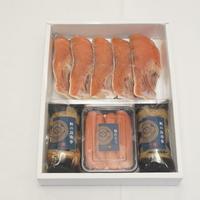 まごころ粕漬(新巻鮭の粕漬5切、塩たらこ2腹、昆布巻2本)【MK-5】