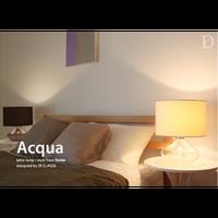 ディクラッセ アクア テーブルランプ ホワイト/ブラック