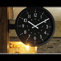 インターフォルム アントス ウォールクロック グレー/ブラック