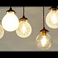 インターフォルム マルヴェル ペンダントライト クリア/クラック/クラックフロスト(LED電球付属)