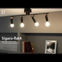 ディクラッセ シガロ フラット4 シーリングランプ ホワイト/ブラック