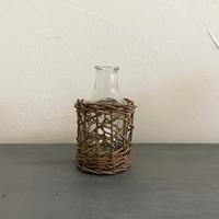 かご編みガラスフラワーベース
