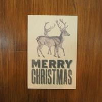 WOODクリスマスカード(REINDEER)