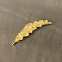 アルミプランツ 箸置き ルッコラ ゴールド
