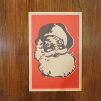 WOODクリスマスカード(SANTA RED