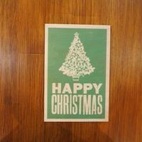 WOODクリスマスカード(TREE GREEN)