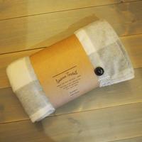 Suave Textile ブランケット チェックグレー