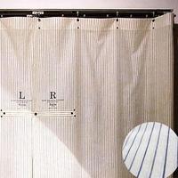 Work stripe curtain long / メンズ・カーテン ※受注生産商品 Made in JAPAN 送料無料