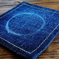 Denim coaster glass / デニムコースター Made in JAPAN 送料無料