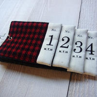 Check number coaster / チェック コースター Made in JAPAN 送料無料