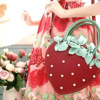 【一部お取り寄せ】宝石苺2wayバッグ(2色)