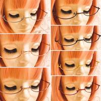 【2本買うと3本目無料!】レンズ無しアンダーリムメガネ