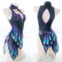 【晚安魔法】蝶の羽根チャイナ