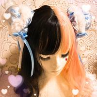 【L.花時季✖はれあめ】お団子ヘアピン専用ファーリング2個セット