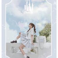 Disney公認シンデレラセーラー服セット(上着半袖)