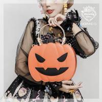 【morning-glory】ハロウィンかぼちゃん2way蝙蝠ハンドバッグ