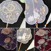 【お取り寄せ】アンティークチャイナ刺繍団扇(5種類)