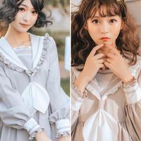 アンティークフリルセーラーワンピース【2色】