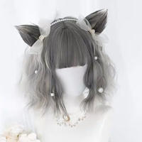 【お取り寄せ】猫耳クリップ付きショートウィッグ