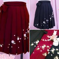 【お取り寄せ赤即納】舞い散るさくらの袴風スカート