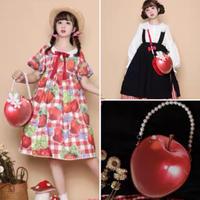 【お取り寄せ】【morning-glory】白雪姫の林檎バッグ【小】