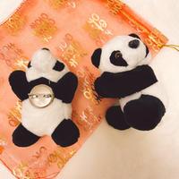 中華な袋付き!パンダクリップ/ブローチ