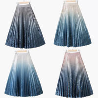 【お取り寄せ】グラデーションベロア風スカート