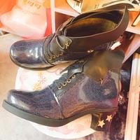 【39ネイビー/35マットブラック】悪魔と契約したお靴