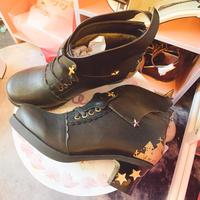 【35マットブラック】悪魔と契約したお靴