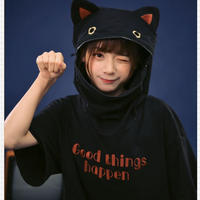 【お取り寄せ】ぱっくん猫ちゃんワンピース