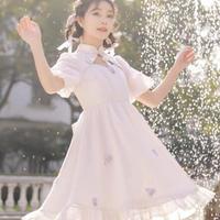 【お取り寄せ】ディズニー公認☆おしゃれキャットマリー*桜チャイナワンピース