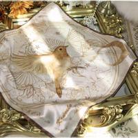 【Krncrlo】月と小鳥のスカーフ(大)【2色】