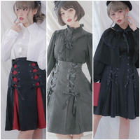 【赤黒お取り寄せ】W編み上げスカート【3種】