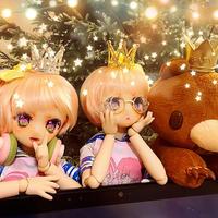 【お取り寄せ】ミニチュア王冠【2種類2色】