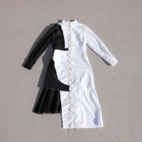 《Akihide  Nakachi》インフォールド シャツワンピース -White-